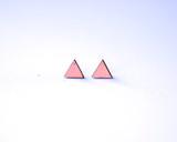 Blush Triangle Wood Studs