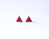 Crimson Triangle Wood Studs