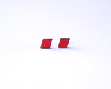 Crimson Wood Diamond Studs