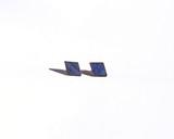 Navy Wood Diamond Studs