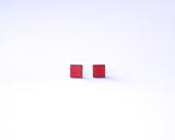 Crimson Square Wood Studs