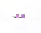 Light Purple Wood Square Studs