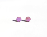 Purple wood Hexagon Studs