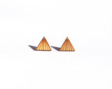 Wood Pyramid Studs