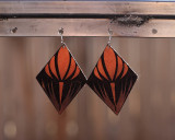 Leather Crocus dangle earrings