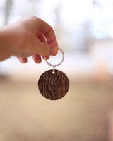 Personalized Hardwood Key chain
