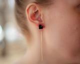 Black heart ear threads