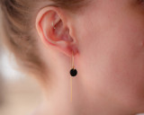 Leather circle ear threads