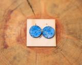 Blue Star Dangle Earrings