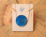 The Blue Star Circle Pendant Necklace