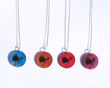 Buzzing Bird Leather Charm Necklace