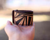 Luxury Leather Ray Cuff Bracelet