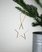 Solid Maple Star Outline Ornament