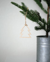 Solid Maple Tree Outline Ornament