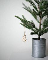 Solid Maple Tree Ornament