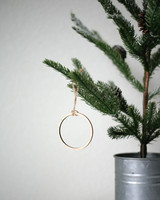 Solid Maple Circle Outline Ornament