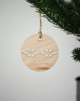Solid Maple Circle Ornament