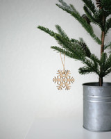 Solid Maple Snowflake Ornament