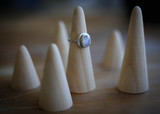 Size 6.5 Sterling Silver Moonstone Ring