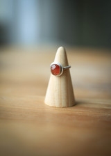 Sterling silver and sunstone ring size 5