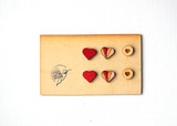 Be Mine Wood Stud Set of Three