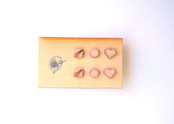 Make Me Blush Wood Stud Set of Three