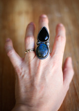 Made to Finish Onyx and Labradorite Ring or Pendant