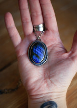 Labradorite Pendant with Magpie Cut Out
