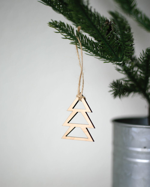 Solid Maple Tree Ornament