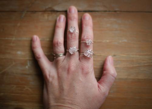 Rose Quartz Stacker rings