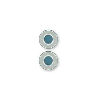 Ibis Scientific 20mm Crimp Cap, Blue PTFE/Blue Silicone