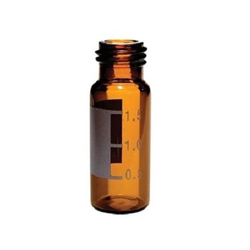 Ibis Scientific 9mm Amber Screw Top Vial, 12x32mm w/  Grad-Patch, 100-pk