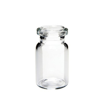 Ibis Scientific 6mL Clear Crimp Top Headspace Vial, Standard Top, Flat Bottom, 1000-Case