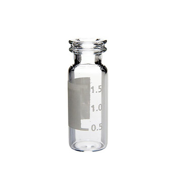 Ibis Scientific 11mm Clear Snap Top Vial with Grad-Patch 100-pk