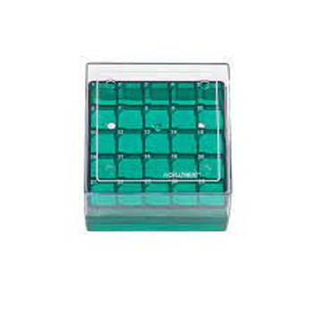 25 Place Storage Box for CF Cryogenic Vial, Polycarbonate, Non-sterile, 5-Case