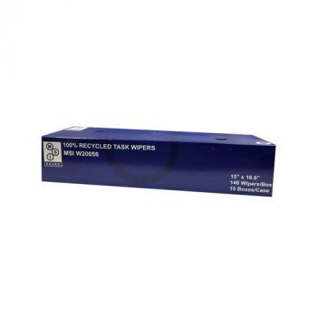 15 x 16.6in 100% Recycled Task Wipers, 2100-Case