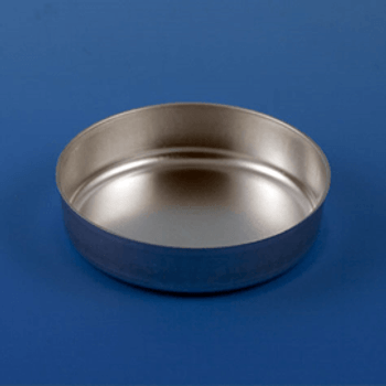 Aluminum Dish, 70mm, 2.0g (80mL), Smooth Wall without Tab, 1000-Case