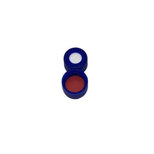 Ibis Scientific 9mm Blue Screw Cap, PTFE/Silicone, 100-pk