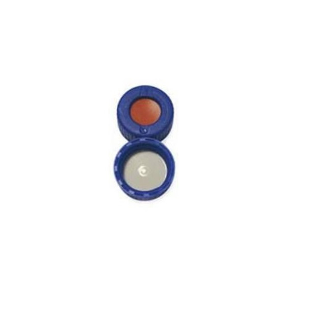 Thermo Scientific™ 9mm AVCS Blue Screw Cap, PTFE/Red Rubber