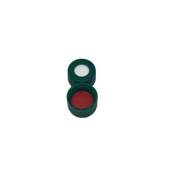 Thermo Scientific™ 9mm Green AVCS Screw Cap, PTFE/Silicone