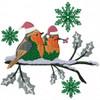 Christmas Robin #02 Machine Embroidery Design