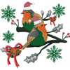 Christmas Robin #03 Machine Embroidery Design