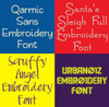 20 BX Fonts - Font Bundle 5 - 20 Embrilliance Machine Embroidery Fonts