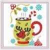 Mug Rug Reindeer Hot Drink #04 In The Hoop Machine Embroidery Design