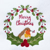 Christmas Robin Collection of 7 Machine Embroidery Designs in Stitched