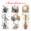 Religious Christmas Collection of 9 Machine Embroidery Designs in Stitched