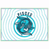 Pisces Zodiac Small Money Purse - In The Hoop Machine Embroidery Design