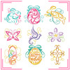 Machine Embroidery Designs - Abstract Easter Collection of 9