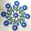 Viola - Circle of Flowers Collection #02 Machine Embroidery Design