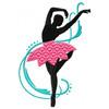 Silhouette Ballet Dancers #05